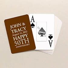 Jumbo Index Anniversary Playing Cards