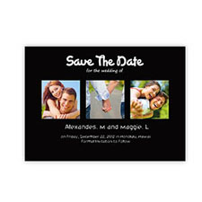 Save the Date Cards, Puppy Love Black