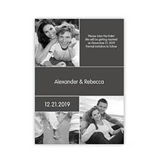 My Save the Date, 3 Pictures Collage Grey