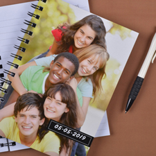 Full Photo Black One Title NoteBook
