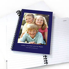 Portrait Photo Blue Two Title Notebook