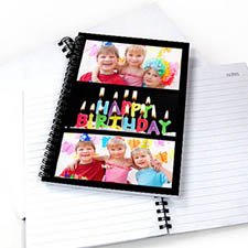 Black Three Collage Notebook