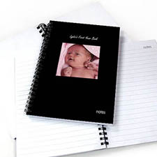 Square Photo Black Two Title Notebook