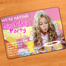 My Party 5x7 Puzzle Invitation (Include Envelopes)