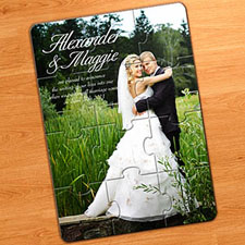 Wedding and Anniversary 5x7 Puzzle Invitation (Include Envelopes)