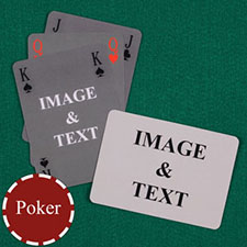 Simple Bridge Style Poker Size Custom Front and Landscape Back Playing Cards