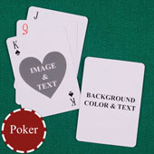 Heart Personalized Both Sides Playing Cards