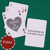 Heart Bridge Style Poker Size Personalized Both Sides Playing Cards