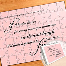 Large Personalized Message Puzzle, Love Letters