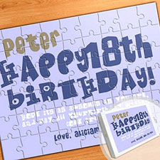 Large Personalized Message Puzzle, Birthday Wishes