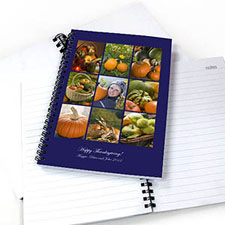 Blue Nine Collage Two Title NoteBook