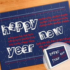 Personalized Message Puzzle, New Year Resolutions