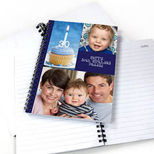 Blue Three Collage One Title NoteBook