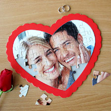 Your Own Photo Heart Puzzle