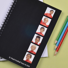 Black Six Collage Two Title NoteBook