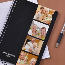 Black Four Collage One Title NoteBook