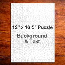 Large Portrait Personalized Message Puzzle