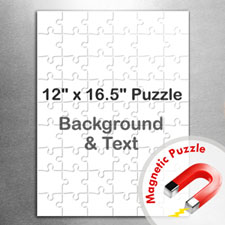 Large Magnetic Portrait Message Jigsaw Puzzle