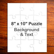 8x10 Personalized Portrait Message Puzzle