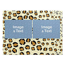 Two Landscape Photos, Leopard Skin Pattern