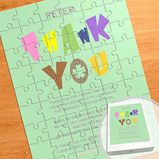 Large Portrait Personalized Message Puzzle, Birthday Wishes