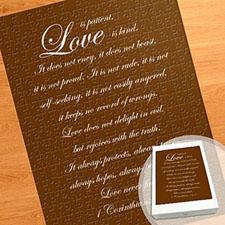 Large Portrait Personalized Message Puzzle, Love Letters