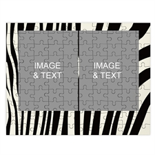 Two Collage Photo Jigsaw, Wild Patterns
