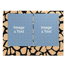 Two Portrait Photos, Giraffe Skin Pattern