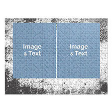 Two Collage Photo Jigsaw, Modern Texture