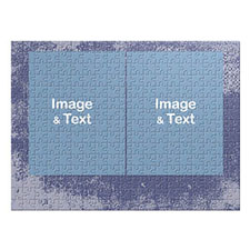 Two Collage Photo Jigsaw, Sky Blue Texture
