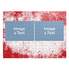 Two Landscape Photos, Modern Red Texture