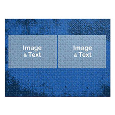 Two Landscape Photos, Royal Blue Texture