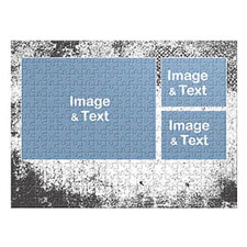 Three Collage Photo Puzzle, Modern Texture