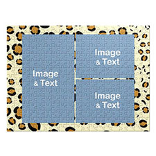 Three Photos Classic, Leopard Skin Pattern