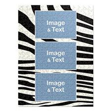 Three Photos Portrait Puzzle, Wild Patterns