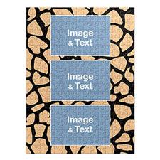 Three Collage Portrait Puzzle, Giraffe Skin Pattern