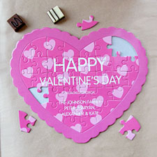 Red Hot Personalized Heart Puzzle