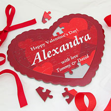 Love Wishes Personalized Heart Puzzle