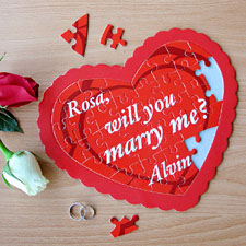 Sweetest Wishes Personalized Heart Puzzle