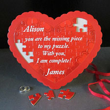 Happy Heart Day Personalized Heart Puzzle