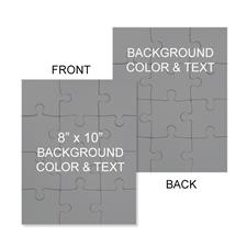 8x10 Double Sided Personalized Jigsaw