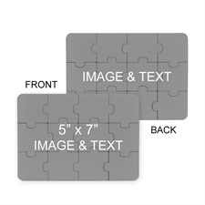 5x7 Double Sided Photo Puzzle Invitation