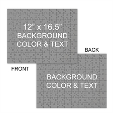Large Double Sided Jigsaw, Background Color or Image and Text