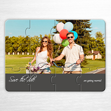 Save the Date Puzzle, Unique Love Grey
