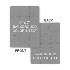 5x7 Double Sided Puzzle Invitations, Background Color or Image and Text