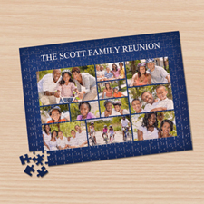 11 Facebook Photo Collage, Navy blue