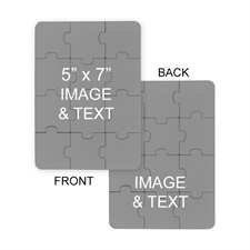 5x7 Double Sided Photo Puzzle Invitation  Portrait