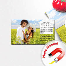 Create Calendar Save The Date Photo 2x3.5 Card Size Magnet