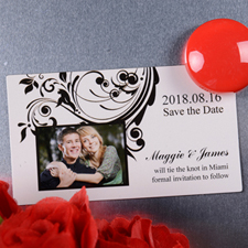 Create Announcing Save The Date Photo 2x3.5 Card Size Magnet