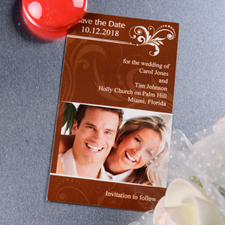 2x3.5 Blissful Save the Date Photo Magnets